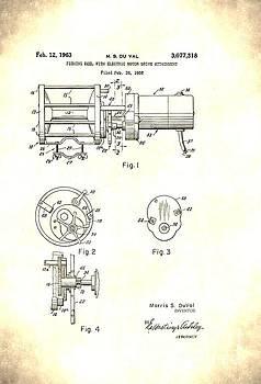 Vintage Electric Reel Patent by Jennifer Capo