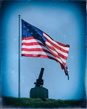 Bill Swartwout Fine Art Photography - Vintage Federal Hill Flag and Cannon