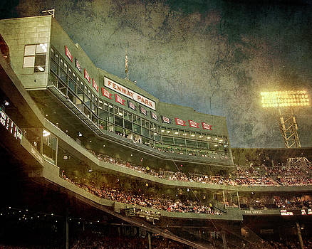 Vintage Fenway Park at Night by Joann Vitali