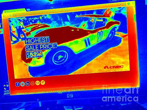 Heat Map Vintage Ferrari G T O Most expensive car ever sold  by Richard W Linford