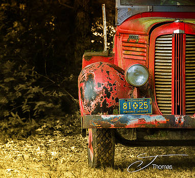 Vintage Fire Truck by J Thomas
