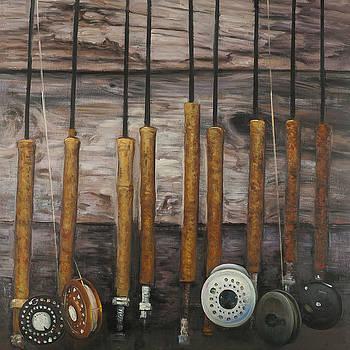 Vintage Fishing Rods by Atelier B Art Studio