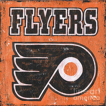 Vintage Flyers Sign by Debbie DeWitt