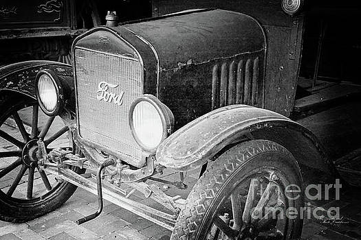 Vintage Ford BW by Inspirational Photo Creations Audrey Woods