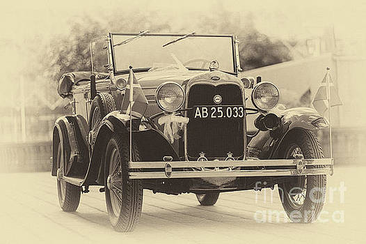Vintage ford in sepia by Vyacheslav Isaev