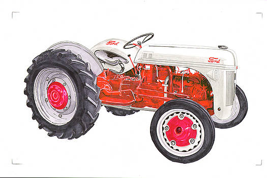 Vintage Ford tractor 1941 by Jack Pumphrey