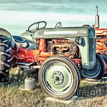 Edward Fielding - Vintage Ford Tractor Square