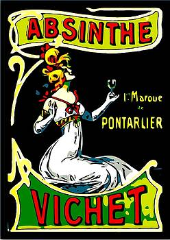 Larry E Lamb - Vintage French absinthe poster remastered