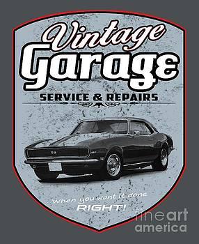 Vintage Garage Camaro by Paul Kuras