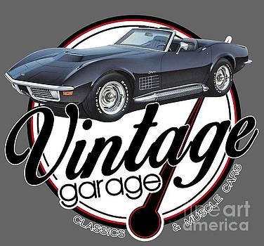 Vintage Garage Convertible by Paul Kuras