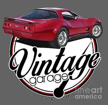 Vintage Garage Corvette by Paul Kuras
