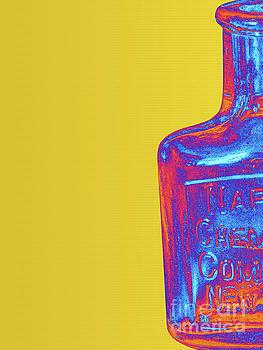 Vintage Glass Bottle Pop Art by Phil Perkins