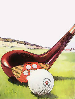 Vintage Golf Art - Circa 1920's by Marlene Watson