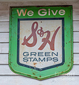 Dale Powell - Vintage Green Stamps Metal Sign