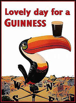 Vintage Guinness Beer Advert - Circa 1920's by Marlene Watson