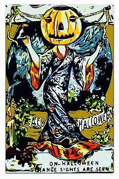 Larry Lamb - Vintage Halloween poster sign