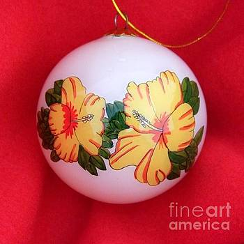 Mary Deal - Vintage Hibiscus Christmas Bulb