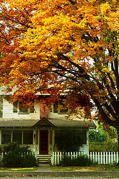 Vintage Home in Autumn by Pamela Patch