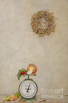 Vintage Household Scale and Vegtables by Susan Gary