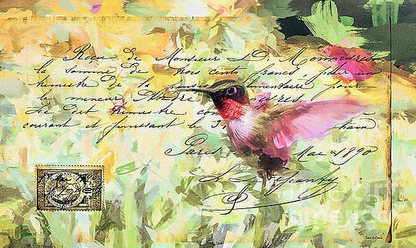 Vintage Hummingbird by Tina LeCour