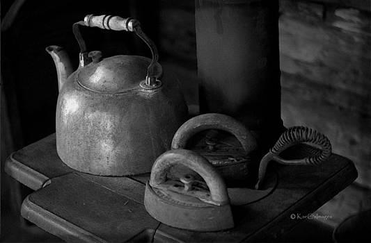 Vintage Items on Old Stove by Kae Cheatham