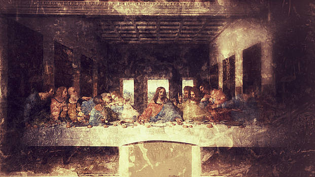 Vintage Last Supper with Jesus by mindin Online