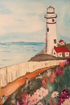 Vintage Lighthouse by Lee Green