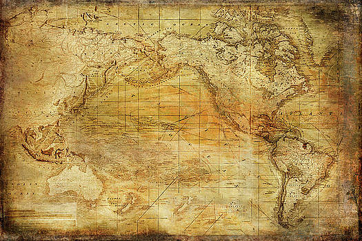 Vintage Map by Ramona Murdock