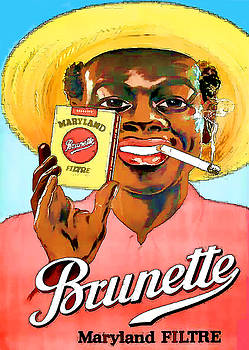 Vintage Maryland Brunette Filter Cigarette Advert - Circa 1920's by Marlene Watson
