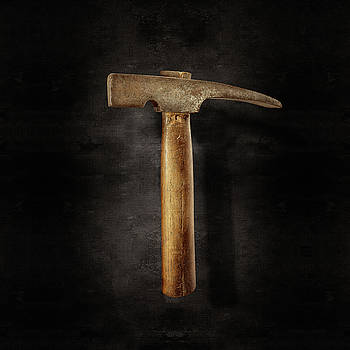 Vintage Masonry Hammer on Black by YoPedro