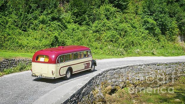 Vintage Mercedes bus by Vyacheslav Isaev