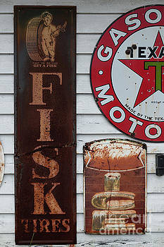 Dale Powell - Vintage Metal Fisk Tires Sign