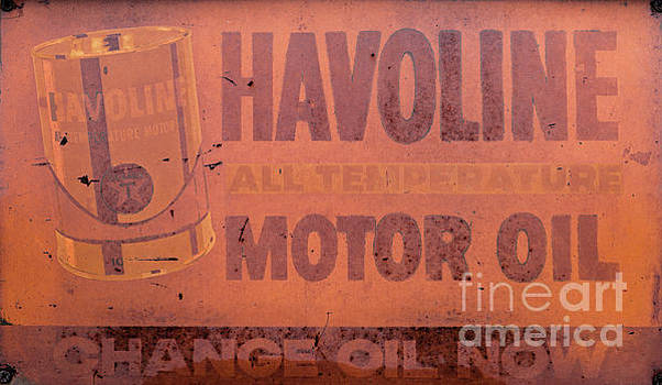 Dale Powell - Vintage Metal Havoline Motor Oil Sign