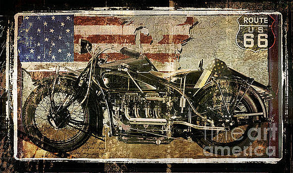 Vintage Motorcycle Unbound by Mindy Sommers