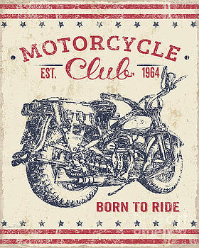 Vintage Motorcycling Mancave-B by Jean Plout