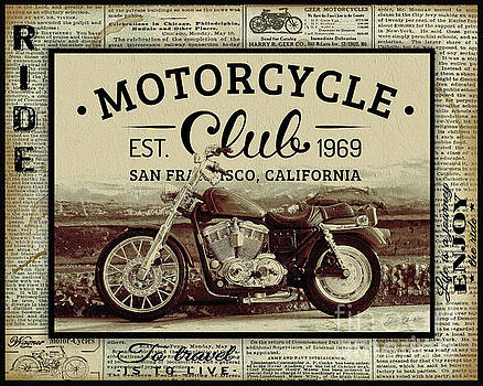 Vintage Motorcycling Mancave-E by Jean Plout