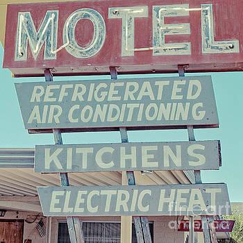 Edward Fielding - Vintage Neon Sign for Plaza Motel Overton Nevada Square