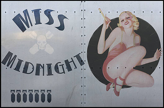Vintage Nose Art Miss Midnight by Cinema Photography