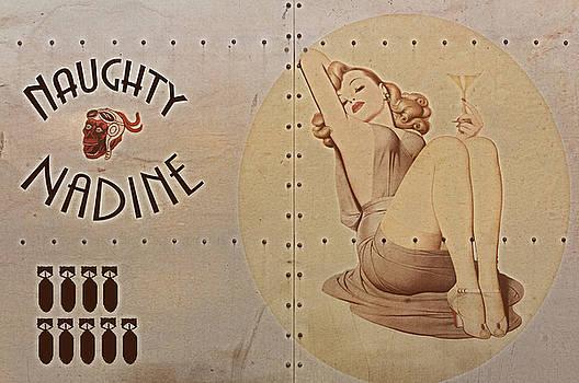 Vintage Nose Art Naughty Nadine by Cinema Photography