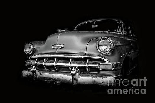 Vintage Old Chevy Classic Black and White by Edward Fielding