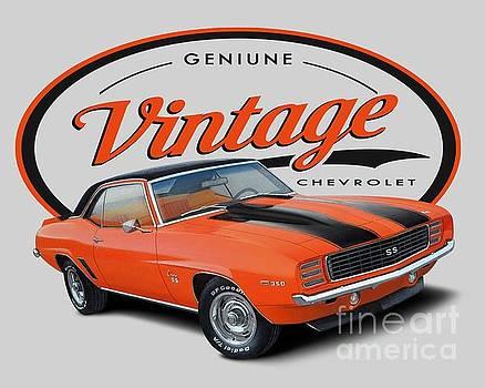 Vintage Orange Camaro by Paul Kuras