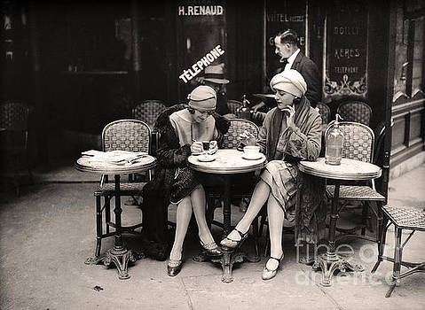 Vintage Paris Cafe by Mindy Sommers