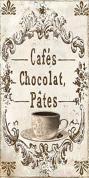 Vintage Paris Cafe Sign by Mindy Sommers