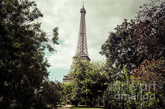 Vintage Paris Landscape by Paul Warburton