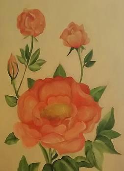 Vintage Peach Rose by Lee Green