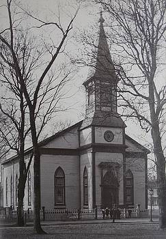 Vintage Photograph 1902 Old Church New Bern NC by Virginia Coyle