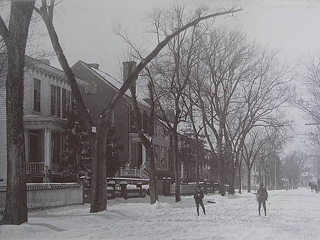 Vintage Photograph 1902 Snowball Fight New Bern NC by Virginia Coyle