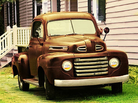 Vintage Pick Up Truck by Digital Art Cafe