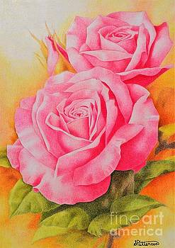Vintage Pink Roses by Sharon Patterson