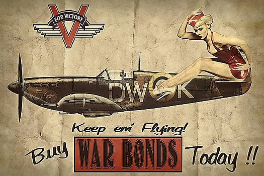 Vintage Pinup Warbond Ad by Cinema Photography
